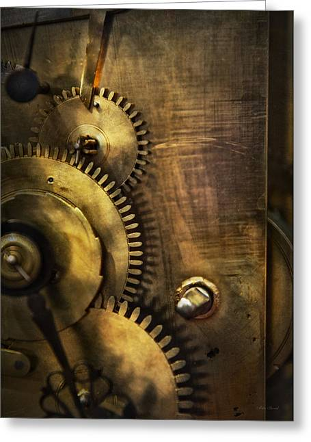 Mechanism Photographs Greeting Cards - Steampunk - Toothy  Greeting Card by Mike Savad