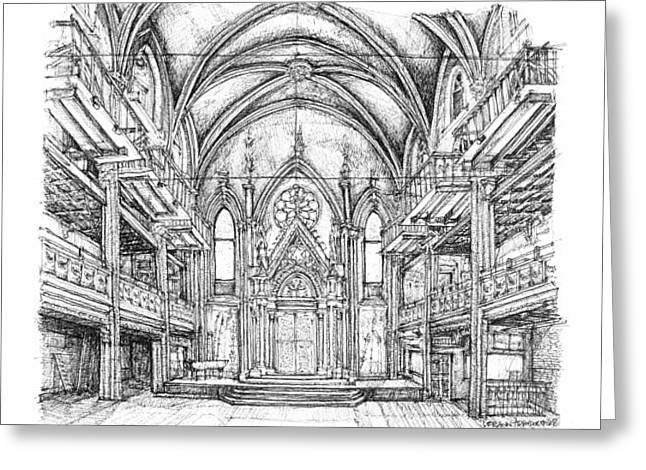 Installation Art Greeting Cards - Angel Orensanz venue in NYC Greeting Card by Building  Art