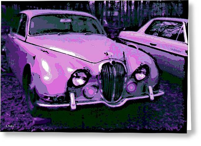 Smooth Ride Greeting Cards - Classic in Pink Greeting Card by George Pedro