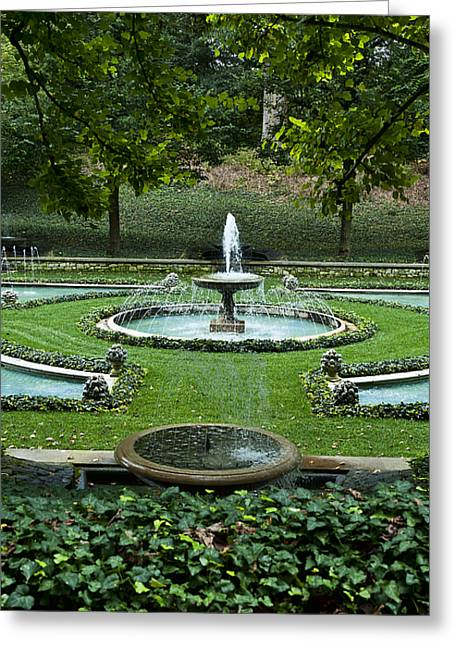 Italian Water Garden Greeting Card by John Greim