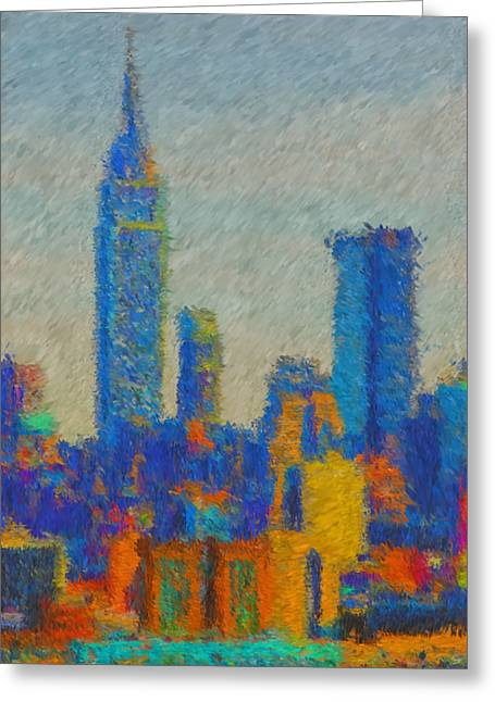 Mike Obrien Greeting Cards - New York City Greeting Card by Mike OBrien