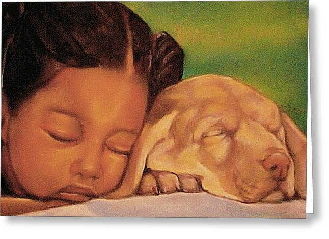 Kids Artist Greeting Cards - Sleeping Beauties Greeting Card by Curtis James