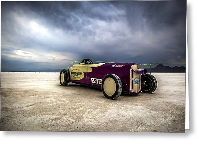 Salt Flat Images Greeting Cards - Speed Week photography and Images by Holly Martin Greeting Card by Holly Martin
