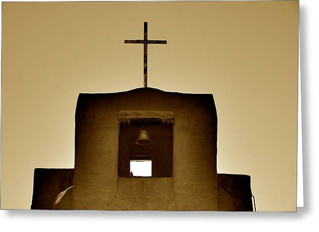 Southwest Church Greeting Cards - Symbols of the Southwest Greeting Card by Sean Cupp