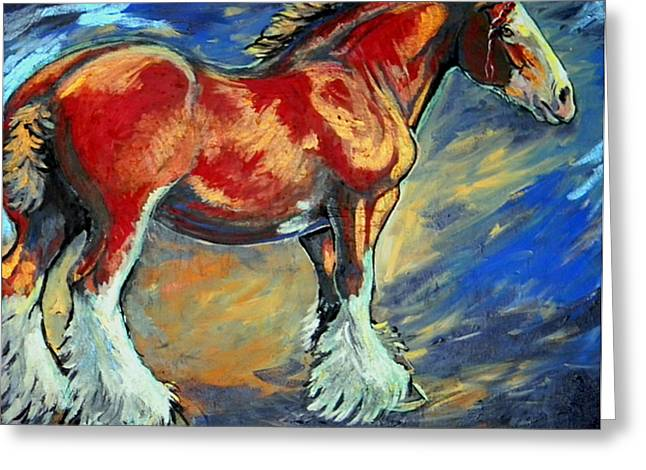 Jenn Cunningham Greeting Cards - The Clydesdale Greeting Card by Jenn Cunningham