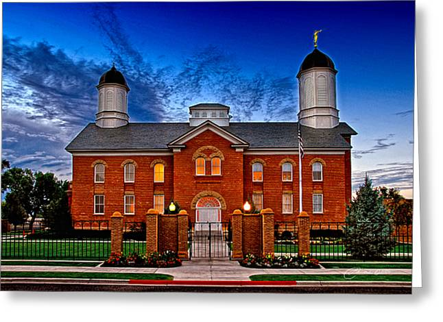 Vernal Greeting Cards - Vernal Temple Realism Greeting Card by La Rae  Roberts