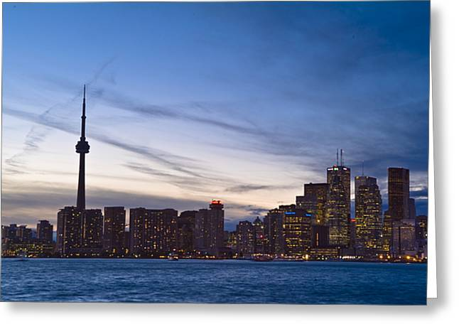 View From Islands Of Skyline Toronto Greeting Card by Richard Nowitz