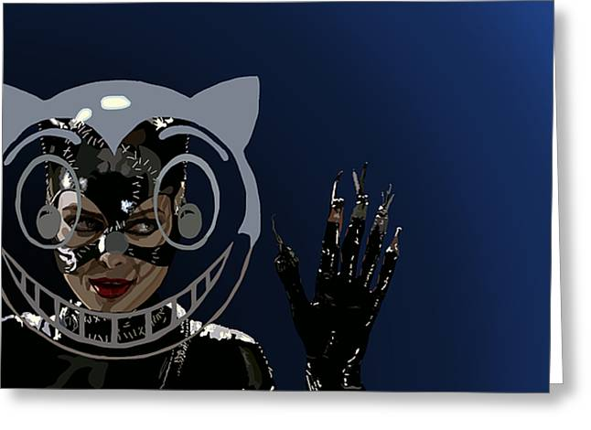 Michelle Pfeiffer Greeting Cards - 114. Meow Greeting Card by Tam Hazlewood