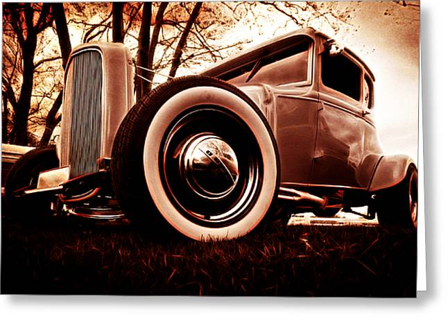 Custom Automobile Greeting Cards - 1930 Ford Model A Greeting Card by Phil