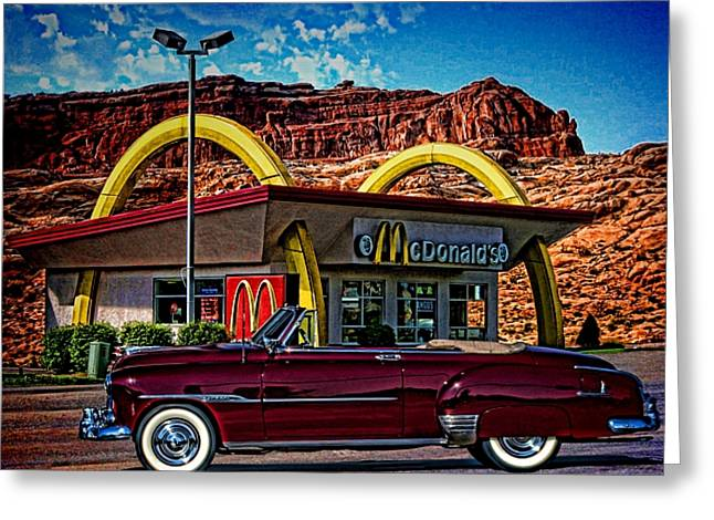 1951 Greeting Cards - 1951 Chevrolet Convertible Greeting Card by Tim McCullough