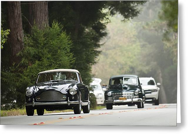 Pebble Beach Car Show Greeting Cards - 1959 Aston Martin DB MK III Tickford Drophead Coupe Greeting Card by Jill Reger