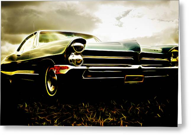 Custom Automobile Greeting Cards - 1965 Pontiac Bonneville Greeting Card by Phil