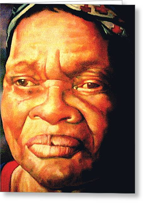 Old Masters Greeting Cards - The Gaze Of Mother Witt Greeting Card by Curtis James