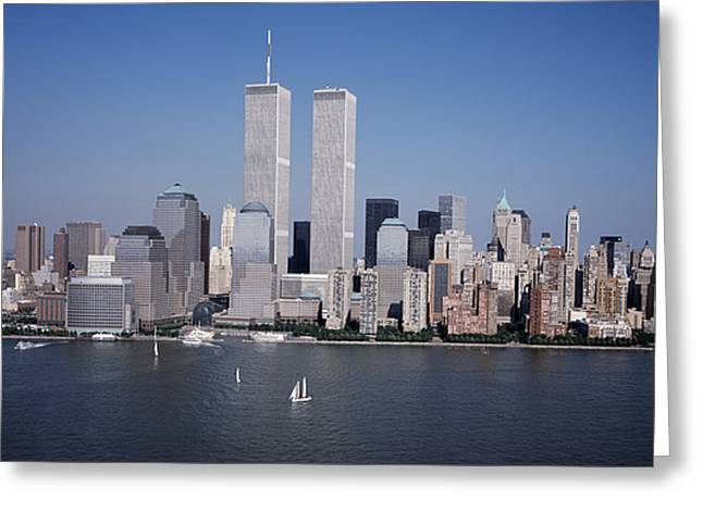 Aerial View Greeting Cards - World Trade Center Greeting Card by Carol M Highsmith