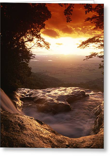 Fall Scenes Greeting Cards - A View Of Sanje Falls From The Top Greeting Card by David Pluth