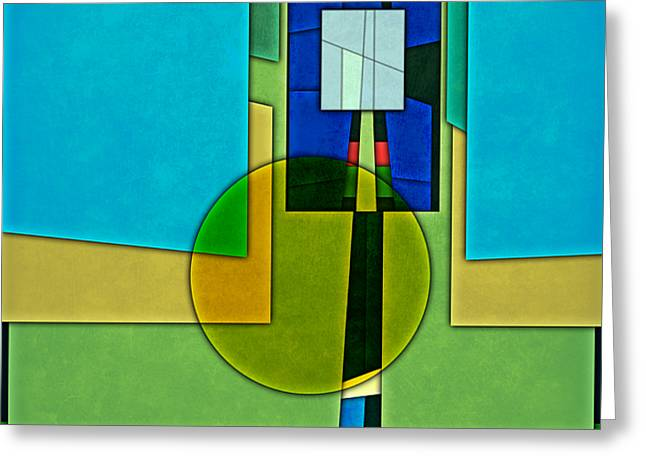 Layers Greeting Cards - Abstract Shapes Color Two Greeting Card by Gary Grayson