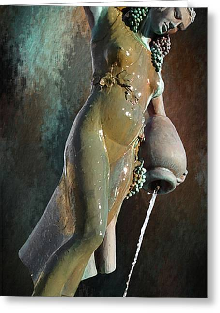 Water Jug Greeting Cards - Abundance Statue Greeting Card by Robert Smith
