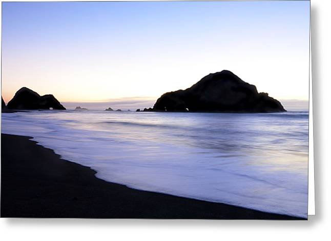 California Ocean Photography Greeting Cards - After Glow at Elk Beach 1 Greeting Card by Bob Christopher