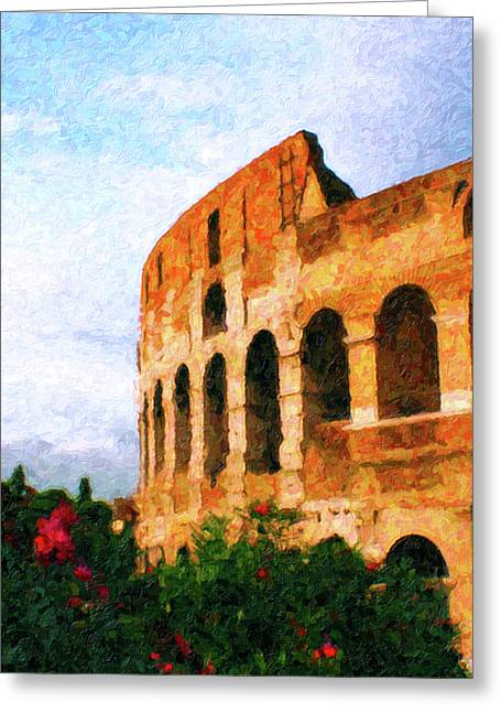 Coliseum Greeting Cards - Afternoon in Rome Greeting Card by Rob Tullis