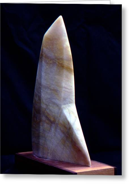 Alabaster Sculptures Greeting Cards - Alabaster Sail Greeting Card by Bert Garrison