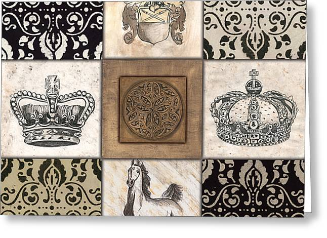 Medieval Greeting Cards - All Hail the Queen Greeting Card by Debbie DeWitt