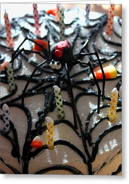 Oxymoron Greeting Cards - Along Came a Spider Greeting Card by Terri Thompson