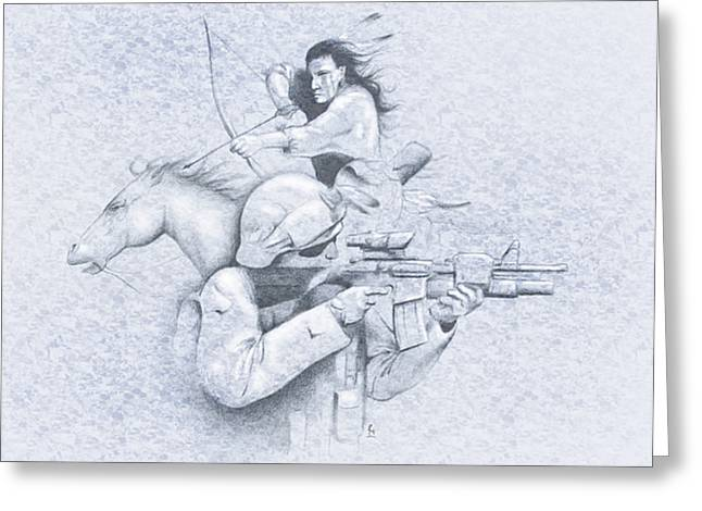Chicano Greeting Cards - Always Soldiers Greeting Card by Robert Martinez