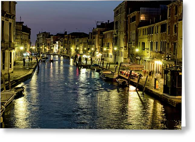 City Buildings Greeting Cards - An Evening in Venice Greeting Card by Michelle Sheppard