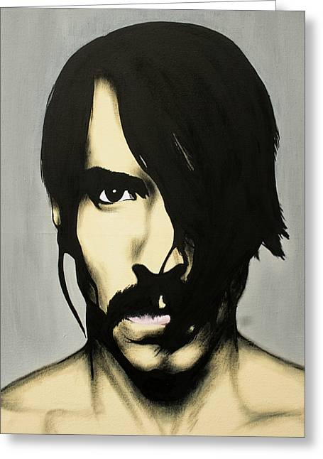 Pepper Paintings Greeting Cards - Anthony Kiedis Greeting Card by Antony Bagley
