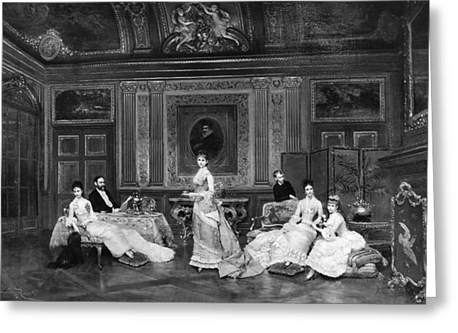 1878 Greeting Cards - Astor Family 1878 Greeting Card by Granger