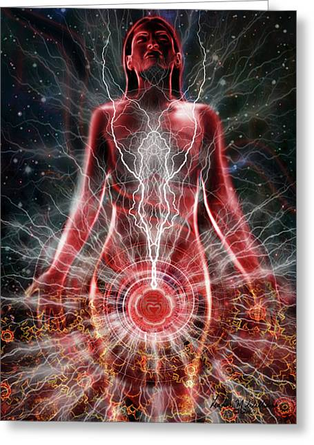 Grounding Greeting Cards - Base Chakra Greeting Card by Leanne M Williams