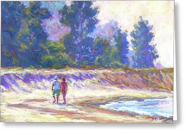 Beachcombing Greeting Card by Michael Camp