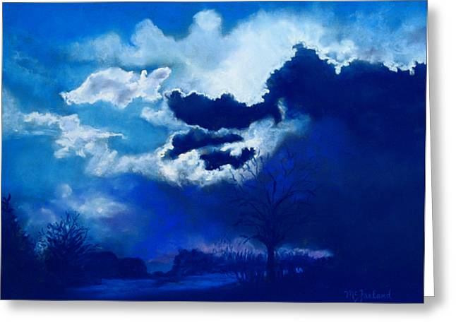 Stormy Weather Pastels Greeting Cards - Big Storm Coming Greeting Card by Lorraine McFarland