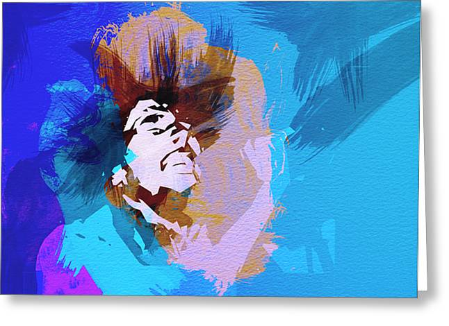 Singer Paintings Greeting Cards - Bob Marley 3 Greeting Card by Naxart Studio