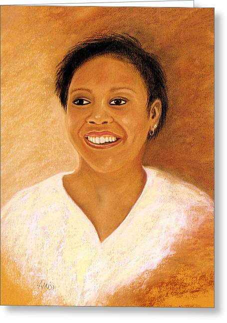 African-americans Pastels Greeting Cards - Bobbie 2 Greeting Card by Jan Amiss