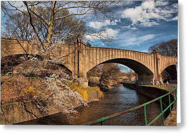 Valerie Morrison Greeting Cards - Branch Brook Park Greeting Card by Valerie Morrison