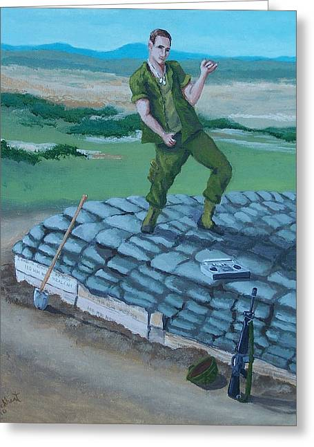 Gi Paintings Greeting Cards - Bunker Dance Greeting Card by Gene Ritchhart