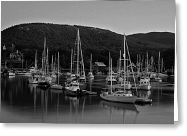 Maine Photographs Greeting Cards - Camden Harbor Greeting Card by Chad Tracy