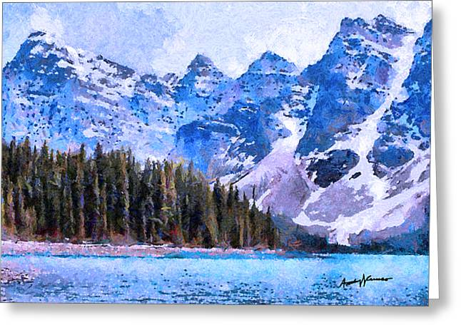 Caruso Greeting Cards - Canadian Rocky Mountain Scene Greeting Card by Anthony Caruso