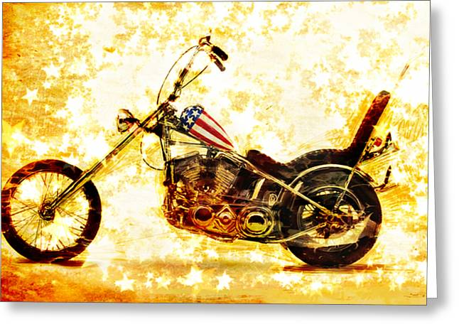 Harley Davidson Greeting Cards - Captain America Greeting Card by Russell Pierce