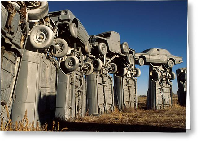 Henge Greeting Cards - Carhenge in the Afternoon Greeting Card by Jerry McElroy