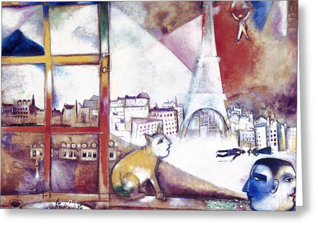 Faa Photographs Greeting Cards - Chagall: Paris, 1913 Greeting Card by Granger