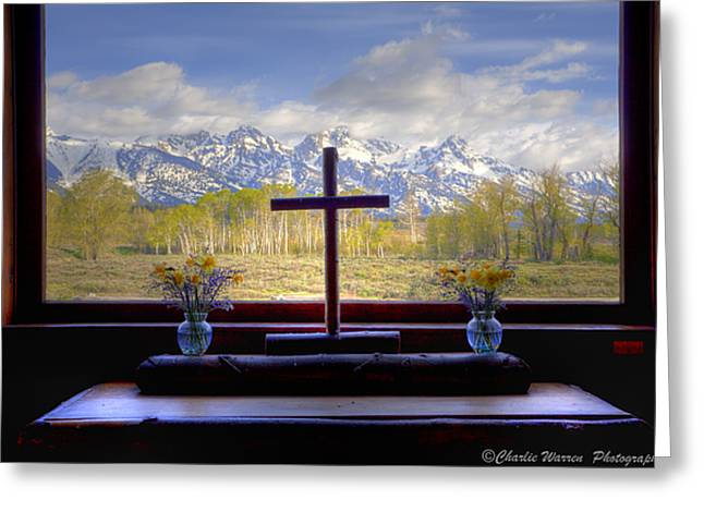 Charles Warren Greeting Cards - Chapel With a View Greeting Card by Charles Warren