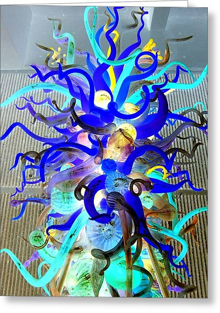 Art Blown Glass Greeting Cards - Chihuly Invert Greeting Card by Randall Weidner