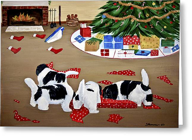 Christmas Mischief Greeting Card by Sharon Nummer