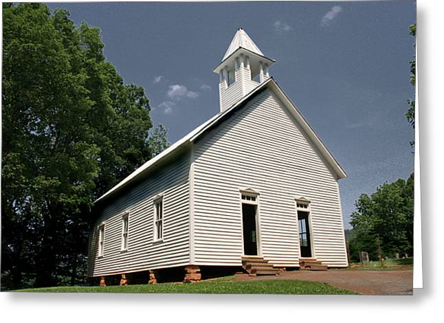 Church Founder Greeting Cards - Church in the Cove Greeting Card by Barry Jones