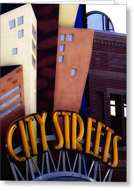 Barry Styles Greeting Cards - City Streets Greeting Card by Barry Styles