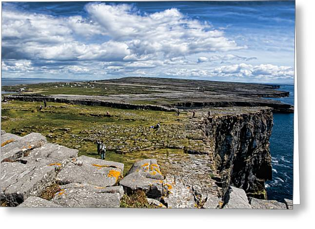 Inishmore Greeting Cards - Cliffs of Dun Aonghasa Greeting Card by Michelle Sheppard