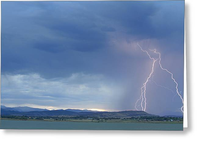 Colorado Rocky Mountains Foothills Lightning Strikes Greeting Card by James BO  Insogna