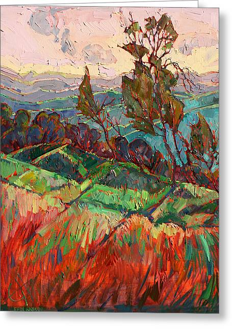 Paso Robles Greeting Cards - Colors in the Hills Greeting Card by Erin Hanson